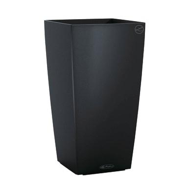 Vaso Cubico Color LECHUZA in plastica grigio H 56 , L 30 X P 30 cm