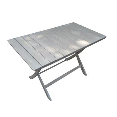 Tavolo da giardino rettangolare Gallipoli NATERIAL con piano in legno L 70 x P 120 cm