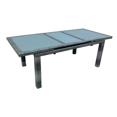 Tavolo da giardino allungabile  rettangolare con piano in vetro L 170 x P 100 cm