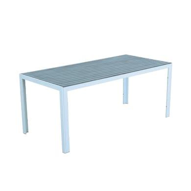Tavolo da pranzo per giardino rettangolare Ischia con piano in alluminio L 86 x P 180 cm