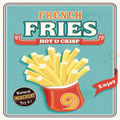Quadro su tela French fries 50x50 cm