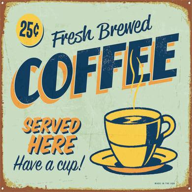 Quadro su tela Coffee Blu 50x50 cm