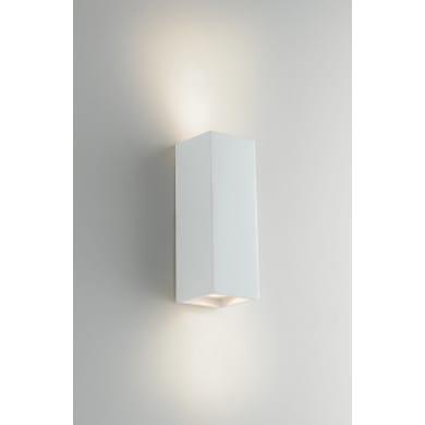 Applique design gesso Foster bianco, in calcestruzzo, 7.3 cm, 2 luci