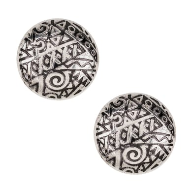 Pomolo in zama grigio / argento verniciato Ø 35 mm 2 pezzi