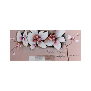 Quadro dipinto a mano Fiori viola 150x65 cm