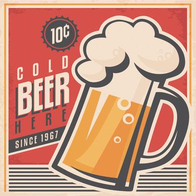 Quadro su tela Cold Beer 50x50 cm