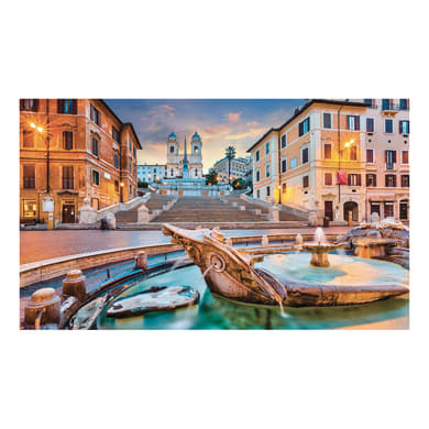 Quadro su tela Piazza di Spagna 80x135 cm