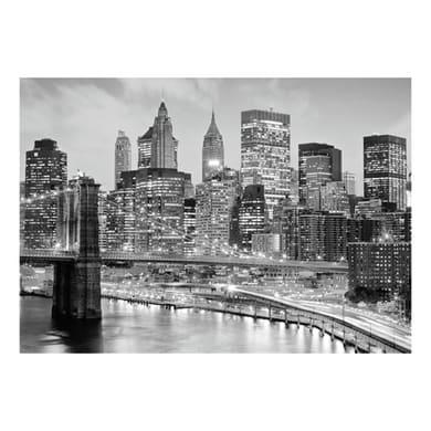 Quadro su tela New York grey 95x145 cm