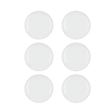 Pomolo in zama bianco lucido Ø 33 mm