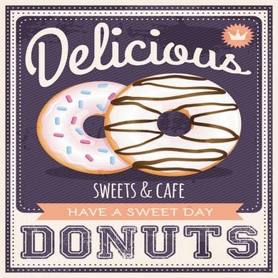 Quadro su tela Donuts 50x50 cm