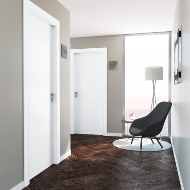 Porta a battente per hotel Radisson White bianco L 70 x H 210 cm destra