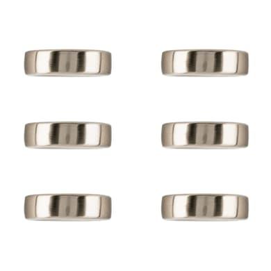 Maniglia in zama nichelato RING REI interasse 16 mm