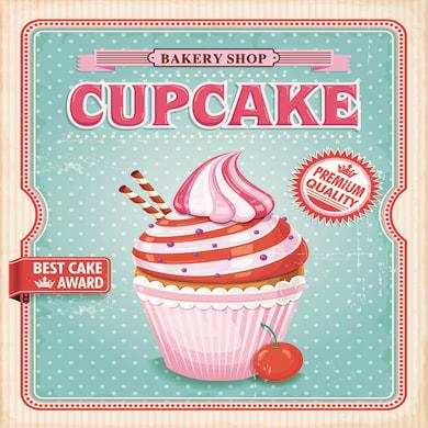 Quadro su tela Cupcake 50x50 cm