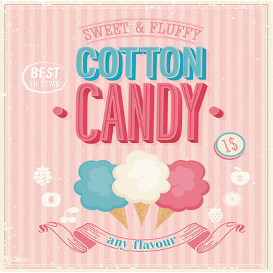 Quadro su tela Cotton Candy 50x50 cm