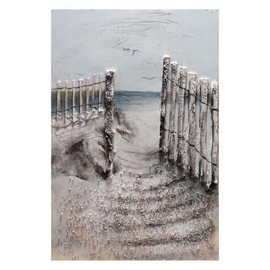 Quadro dipinto a mano Steccato Sul Mare 90x60 cm