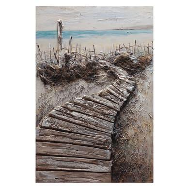 Quadro dipinto a mano Passerella Verso Il Mare 90x60 cm