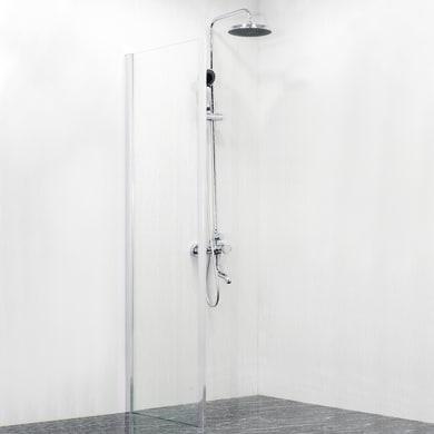 Lato fisso Dado 170 cm, H 185 cm in vetro temprato, spessore 5 mm trasparente satinato