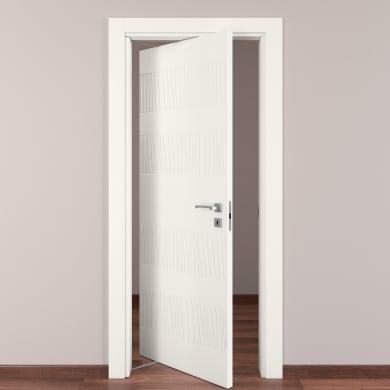 Porta rototraslante Fence bianco L 80 x H 210 cm sinistra