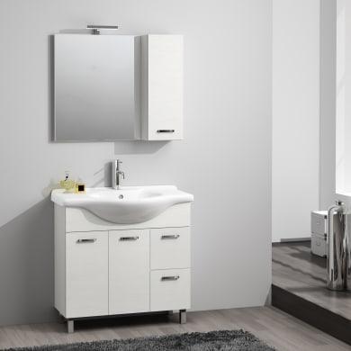 Mobile bagno Nicole bianco frassino L 85 cm