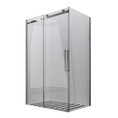 Lato fisso SKYLINE 70 cm, H 200 cm in vetro temprato, spessore 8 mm trasparente cromato