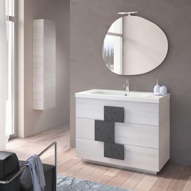 Specchio con illuminazione integrata bagno ovale Eklettica L 90 x H 78 cm