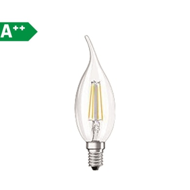 Lampadina Filamento LED E14 colpo di vento bianco caldo 4.0W = 470LM (equiv 40W) 300.0° OSRAM
