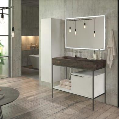 Specchio con illuminazione integrata bagno rettangolare Eklettica L 120 x H 70 cm