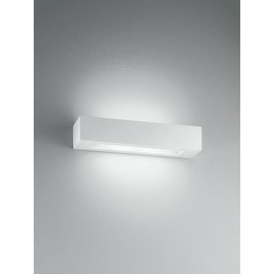 Applique Candida bianco, in gesso, 36 cm, E14 2xMAX28W IP20