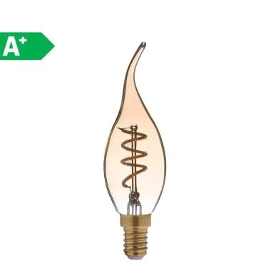 Lampadina LED E14 colpo di vento ambrato 2.5W = 150LM (equiv 16W) 360° LEXMAN