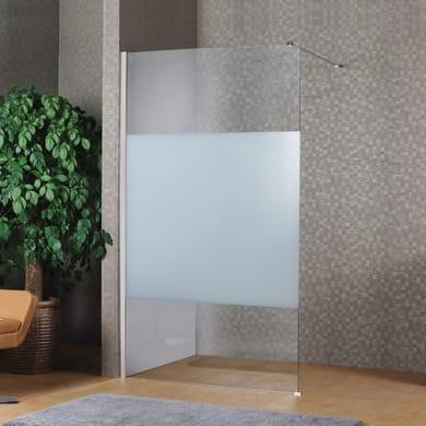 Doccia walk in L 80, H 200 cm, vetro 8 mm serigrafato cromato