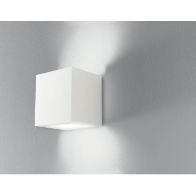 Applique design gesso Rubik bianco, in calcestruzzo,