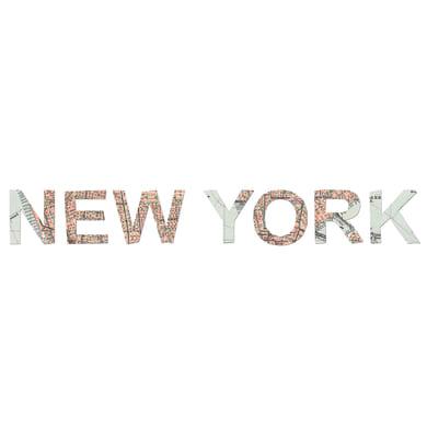 Quadro su tela Scritta New York 20x60 cm