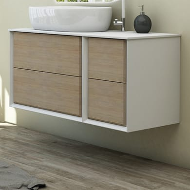 Mobile bagno Bellagio rovere e bianco L 105 cm
