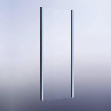 Lato fisso Namara 80 cm, H 195 cm in vetro temprato, spessore 8 mm trasparente satinato
