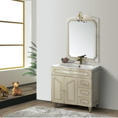 Mobile bagno Caravaggio beige L 90 cm