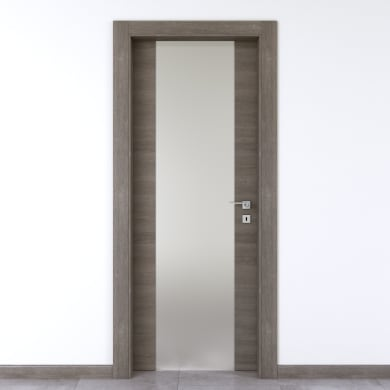 Porta a battente Starwood Vetrata pietra L 70 x H 210 cm sinistra