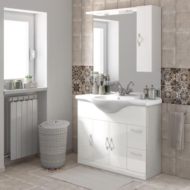 Mobile bagno Blanca bianco L 105 cm