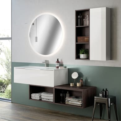 Mobile bagno Bali rovere bianco L 120 cm