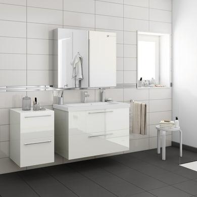 Mobile lavabo Remix L 45 x P 33 x H 58 cm in agglomerato rovere
