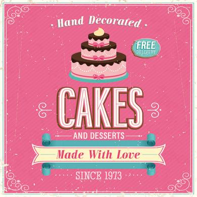 Quadro su tela Pink Cakes 50x50 cm