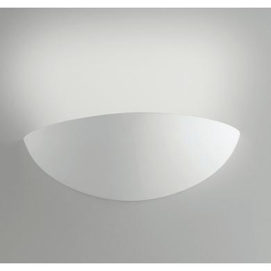 Applique design Moritz bianco, in gesso, 10.5x31 cm,