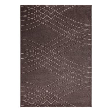 Tappeto Carve Wave marrone 160x230 cm