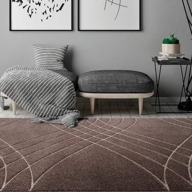 Tappeto Carve Wave , marrone, 160x230 cm
