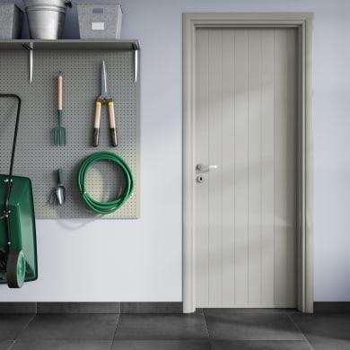 Porta a battente PVC Grey grigio L 80 x H 210 cm destra