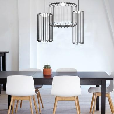 Lampadario Design Cage S nero, in metallo, D. 50 cm, LUMICOM