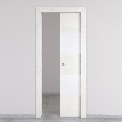 Porta scorrevole a scomparsa Melangè bianco L 80 x H 210 cm destra