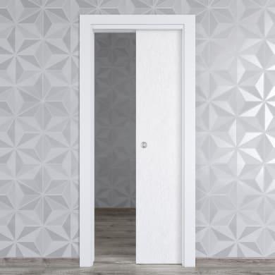 Porta scorrevole a scomparsa Hunk Cemento calce L 70 x H 210 cm reversibile