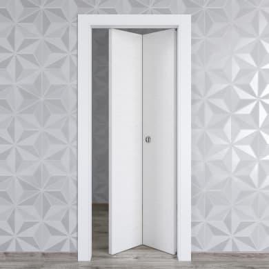 Porta pieghevole Hunk Cemento calce L 80 x H 210 cm destra