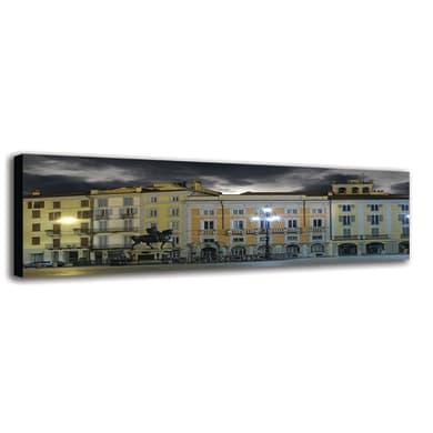 Quadro su tela Piacenza Piazza Cavalli 40x125 cm
