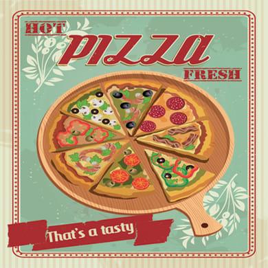 Quadro su tela Pizza trancio 50x50 cm